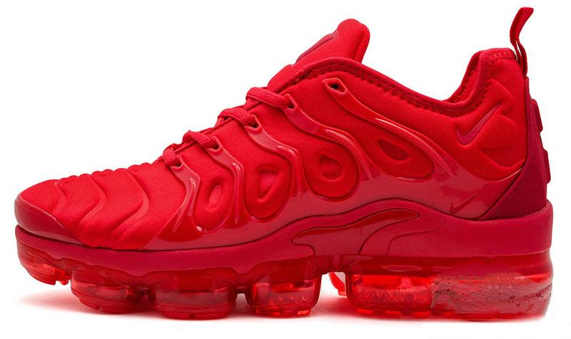Мужские кроссовки Nike Air VaporMax Plus (Найк Аир Макс Плюс) красные