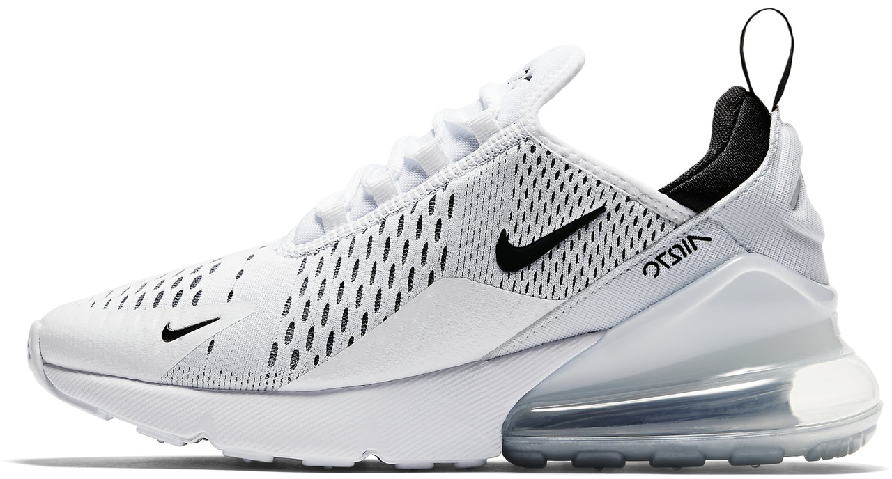 Мужские кроссовки Nike Air Max 270 White/Black (Найк Аир Макс) белые