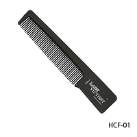 Расческа пластиковая HCF-01 с частыми зубьями, короткой ручкой, размер: 13,5х2,5 см