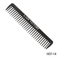 Расческа-гребень пластиковая HCF-14 с редкими зубцами, размер: 18х4 см