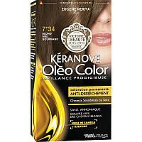 Стойкая Краска без Аммиака  7*34  Блондин ЗолотистыйОлеоколор Oleo Color , Блондин Золотистый, 125 мл, фото 1