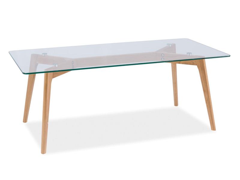 Журнальний кофейний стіл зі скла у вітальню Oslo L1 Signal