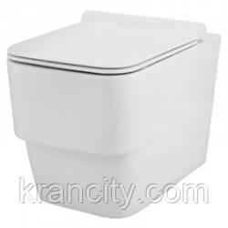 Унитаз безободковый, подвесной с сиденьем soft clouse D´arc Jaquar (DRC-WHT-37951)