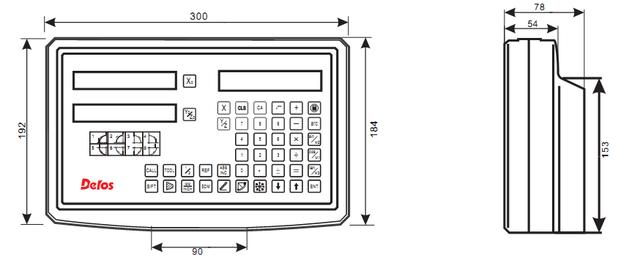 Трехкоординатное устройство цифровой индикации DS-3V компании DELOS