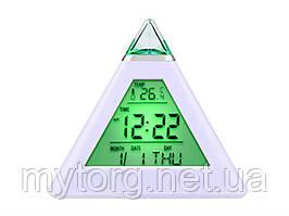LED Часы будильник Пирамида