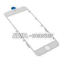 Рамка со стеклом и OCA клеем для дисплея Apple iPhone 6S 4.7 белый Оригинал