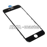 Рамка со стеклом и OCA клеем для дисплея Apple iPhone 6S 4.7 черный Оригинал