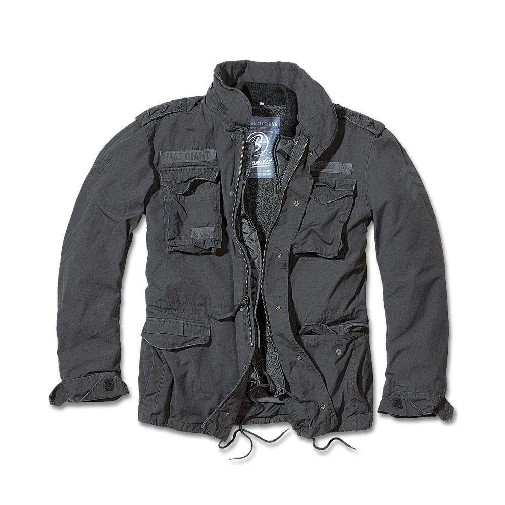 Демисезонная мужская куртка Brandit M-65 Giant BLACK