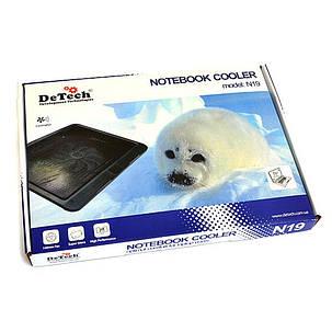 Охлаждающая подставка для ноутбука DeTech N19, фото 2