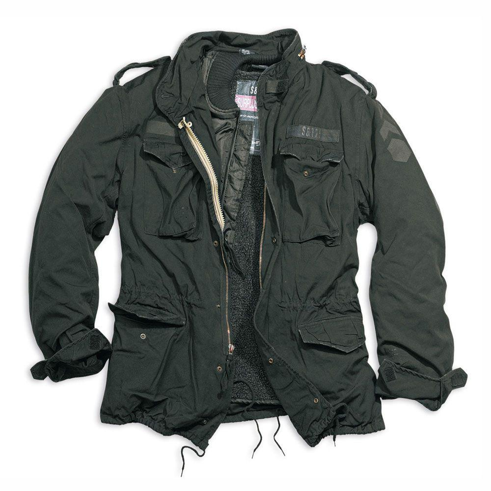 Демисезонная мужская куртка Surplus Regiment M 65 Jacket Schwarz Ge