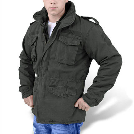 Демисезонная мужская куртка Surplus Regiment M 65 Jacket Schwarz Ge, фото 2