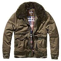 Зимняя мужская куртка Brandit Perry Moleskin winterjacket OLIVE
