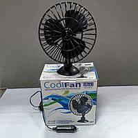 Вентилятор автомобильный в прикуриватель 12V ф130 мм на присоске