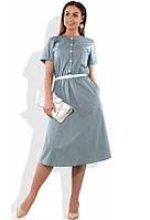 Элегантное платье А-покроя размеры от XL ПБ-190
