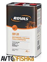 Синтетичне моторне масло Rovas 5W-30 1л