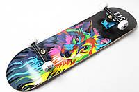 Скейт деревянный от Fish Skateboard скейтборд Волк Канадский клен