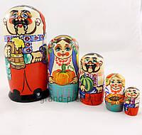 Матрёшка – Украинская семья из пяти 15см (дерево)