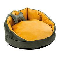Лежак для кошек и собак Буше 1 хаки-охра ТМ Природа 56х56х26см