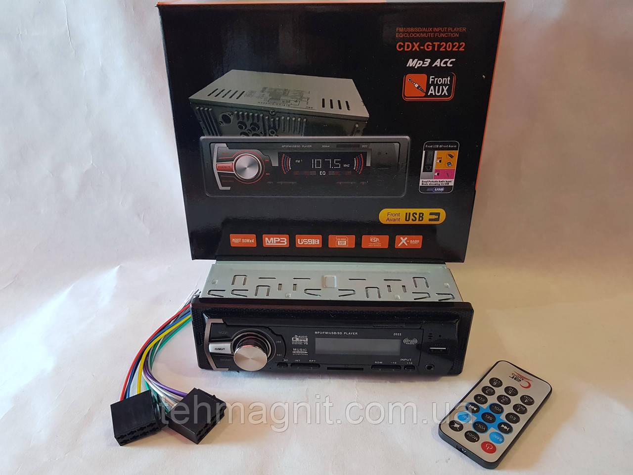 Авто Автомагнитола MP3, CDX-GT2022 (USB, SDHC, AUX, FM)