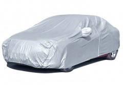 Тент (чехол) для легкового автомобиля М / серый+карманы под зеркала ДК