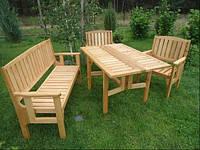 Комплект садовой мебели Стол лавка кресло