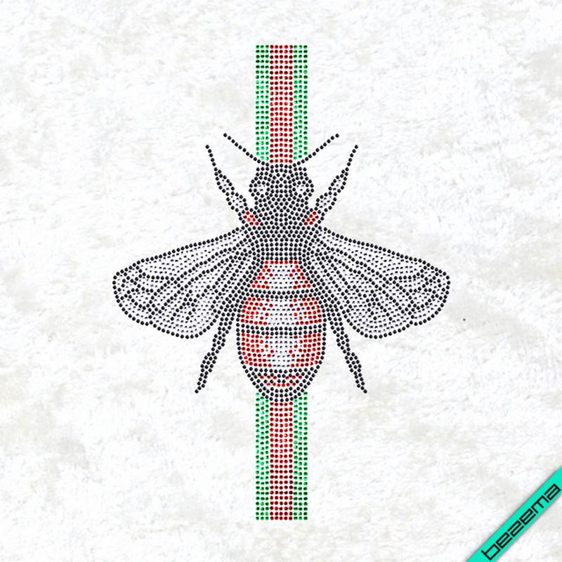 Рисунки на ткань Пчела Модное (Стекло, 2мм-кристал, 2мм-черн, 2мм-красн, 2мм-изумруд)