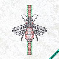 Рисунки на ткань Пчела Модное (Стекло, 2мм-кристал, 2мм-черн, 2мм-красн, 2мм-изумруд), фото 1