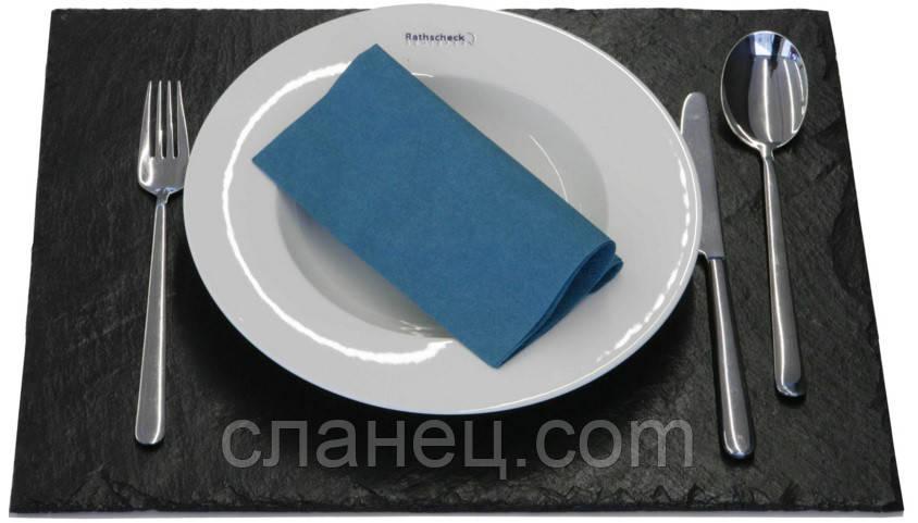 Блюдо для подачи 40х30 см; натур. сланецевая посуда