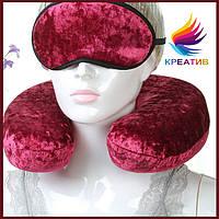Подушка под шею и маска для сна с вашим логотипом под заказ (от 50 шт.)