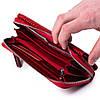 Женский большой кошелек кожаный красный Eminsa 2084-4-5, фото 6