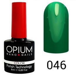 Гель лак Opium № 046 светло зеленый  8 мл