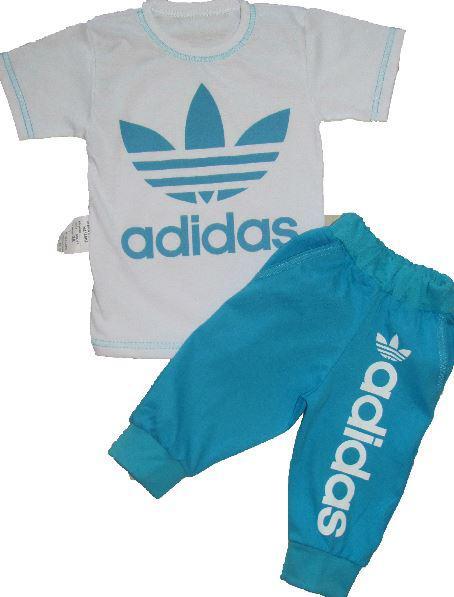 Костюм Adidas футблка + бриджи, рост 86 -92 унисекс