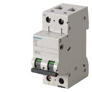 Автоматический выключатель Siemens Sentron  (400В, 6кA, 2-пол, C, 1A), 5SL6201-7