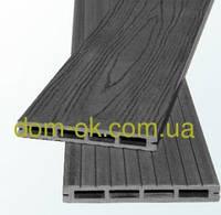 Террасная доска из ДПК Полимер Вуд коллекция  Massive 150 х20 х2200мм цвет антрацит