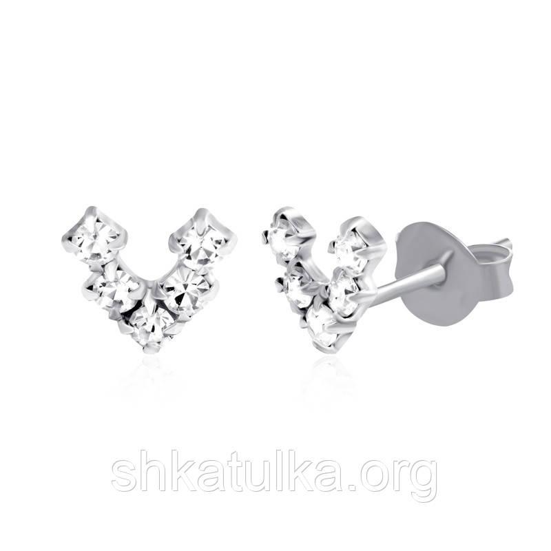 Серебряные серьги детские С1Ст/619