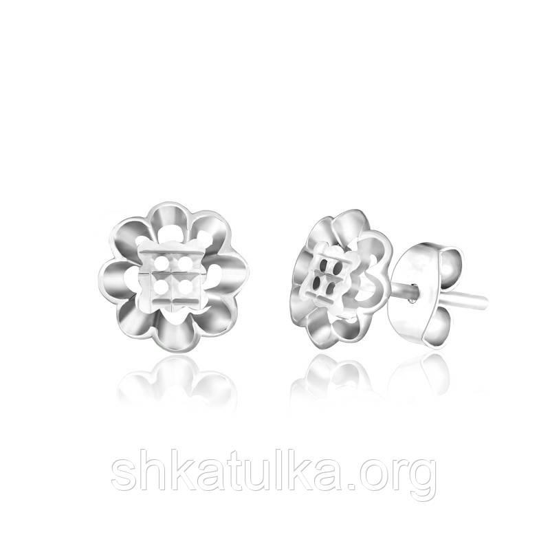 Серебряные серьги детские С2/383