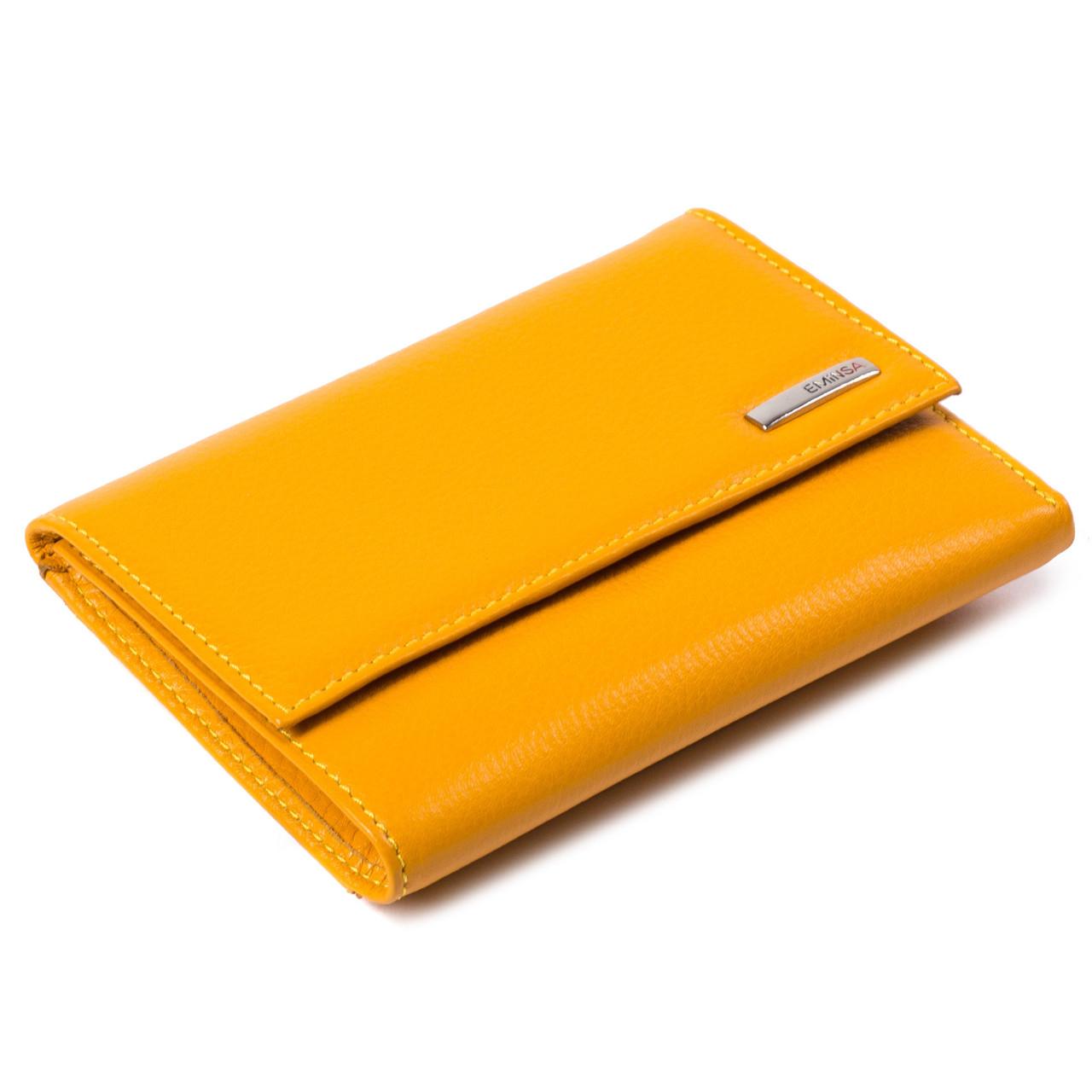 Женский кошелек кожаный желтый Eminsa 2067-12-13