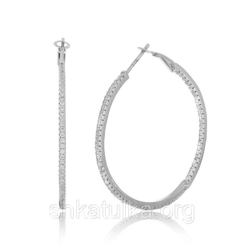 Серебряные серьги с фианитом С2Ф/169А