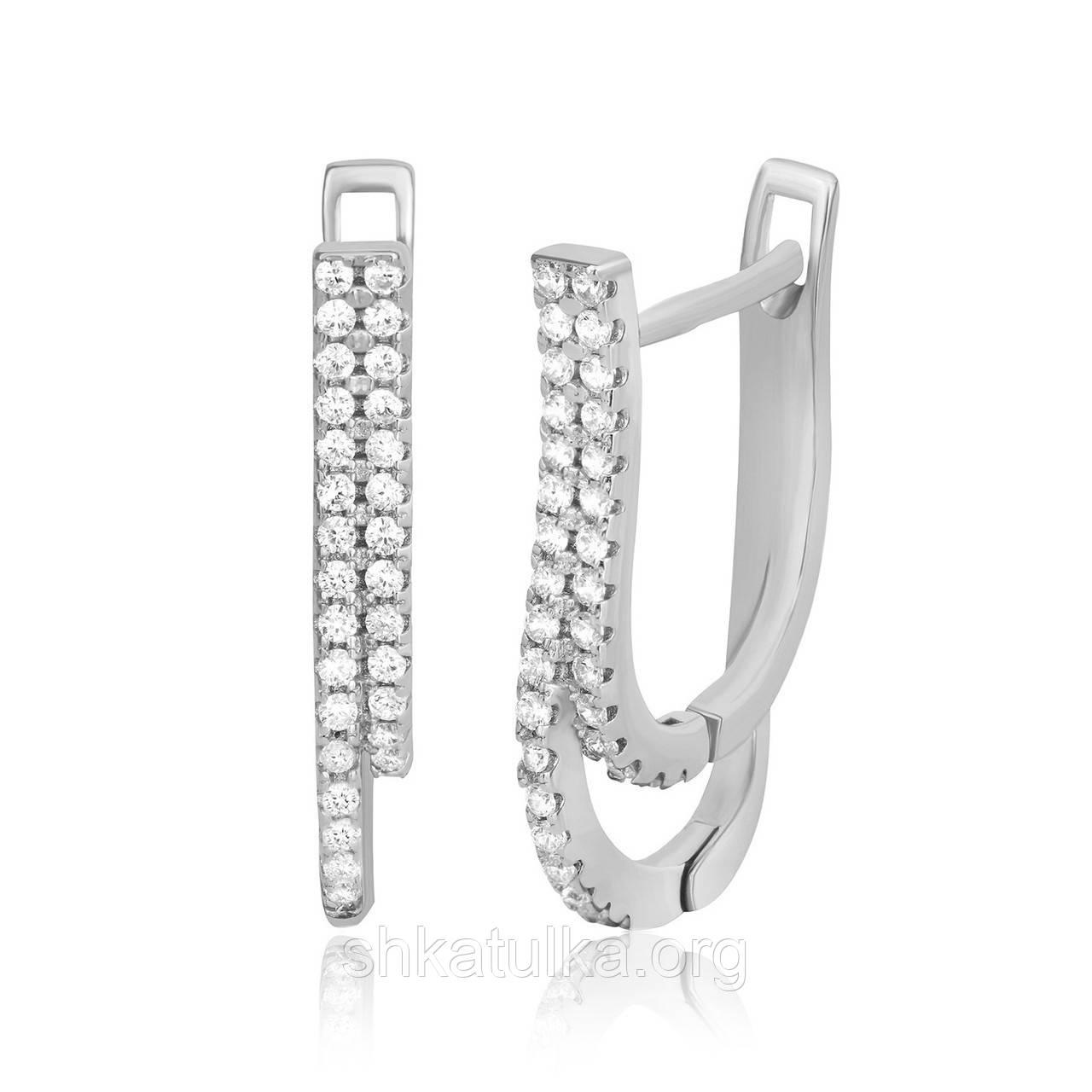 Серебряные серьги с фианитом С2Ф/170