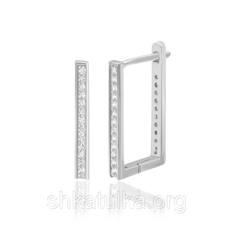 Серебряные серьги с фианитом С2Ф/192