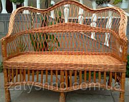 Плетений диван для дачі