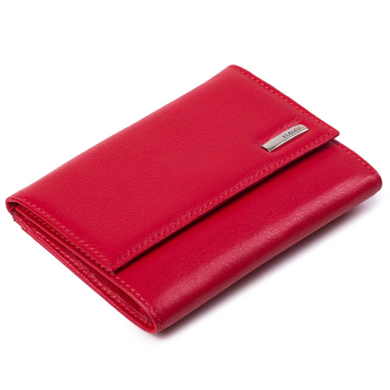 Женский кошелек кожаный красный Eminsa 2067-12-5