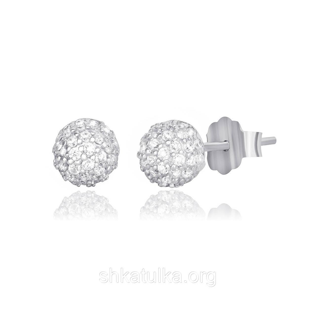 Серебряные серьги с фианитом С2Ф/358
