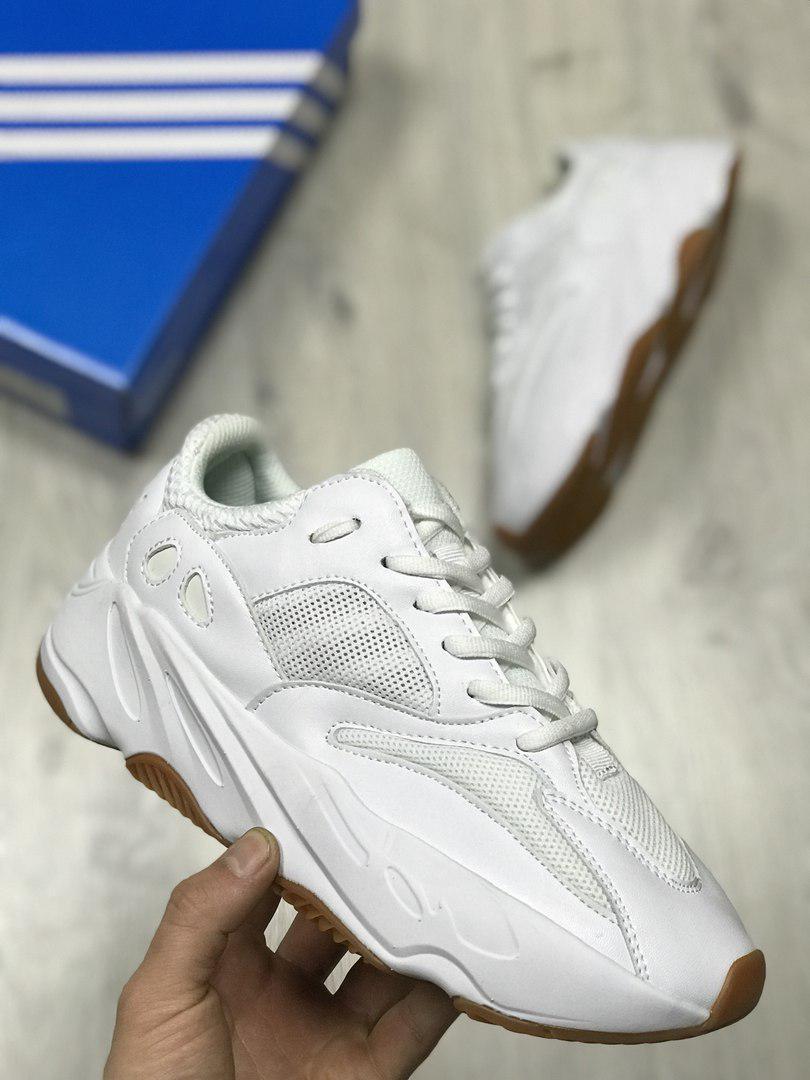 cba14d20 Кроссовки Adidas Yeezy 700 Boost Solid белые реплика+живые фото ...