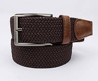 Плетеный ремень резинка Alon (оригинал) 4900-103 коричневый, ширина 35 мм, фото 1