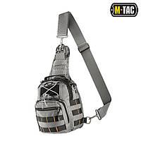 Сумка однолямочная средняя M-Tac Patrol Carabiner серая