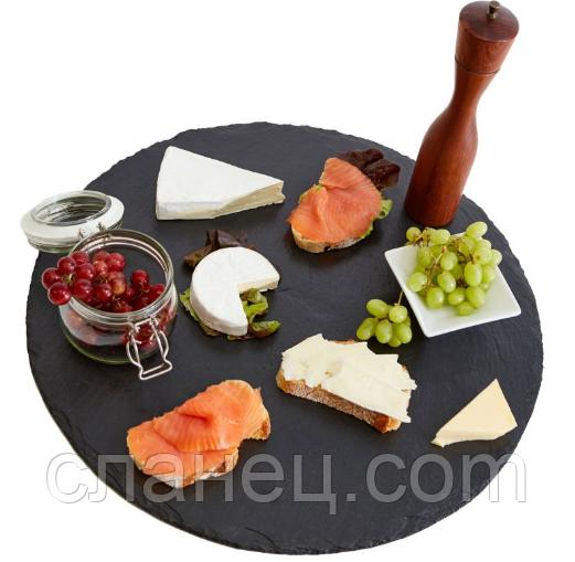 Блюдо для подачи круг. 40 см ;Сланцевая посуда