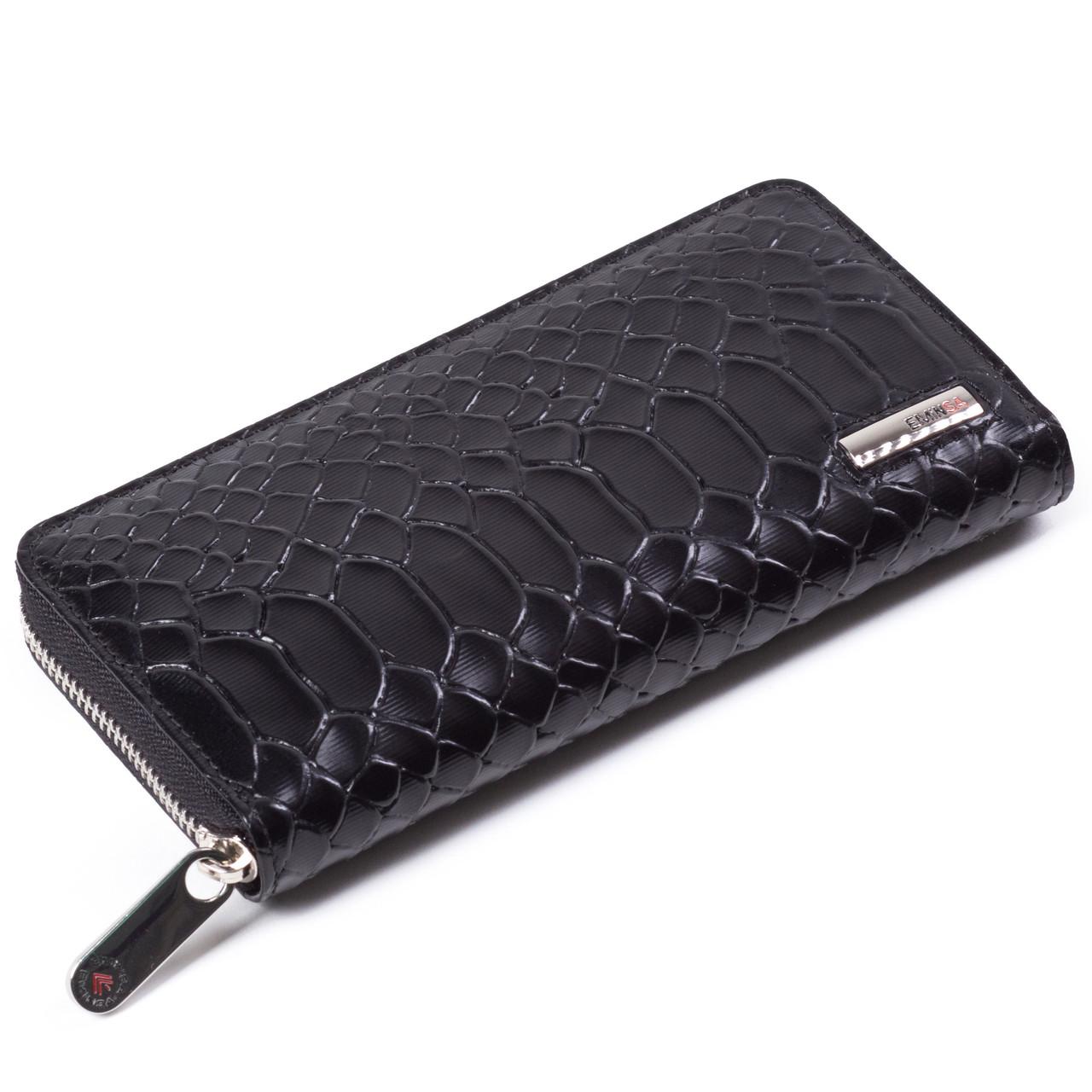 Женский кошелек кожаный черный Eminsa 2036-21-1