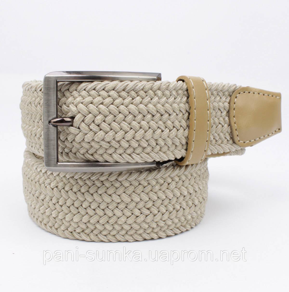 Плетеный ремень резинка Alon (оригинал) 4900-104 бежевый, ширина 35 мм