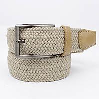 Плетеный ремень резинка Alon 4900-104 бежевый, ширина 35 мм